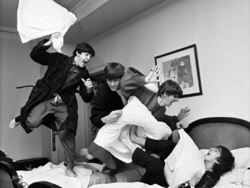 La bataille d'oreillers des Beatles