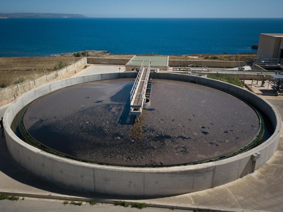 L'usine de traitement des eaux usées de l'île de Gozo