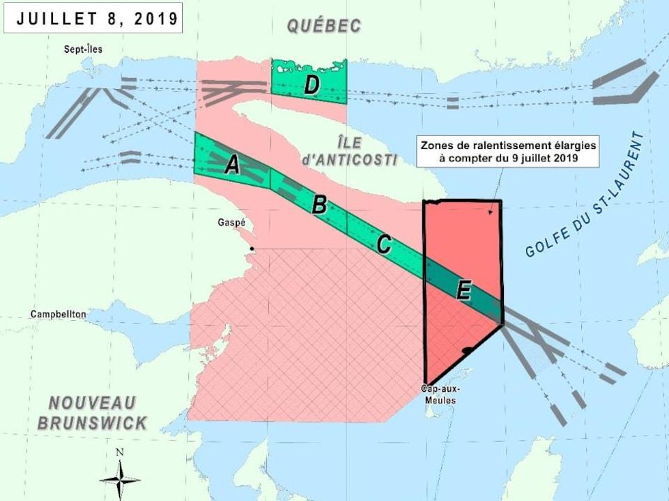 Une carte du golfe du Saint-Laurent.