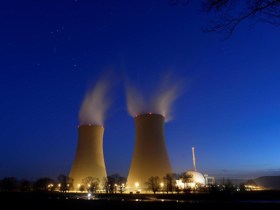 La centrale nucléaire de Grohnde en Allemagne.