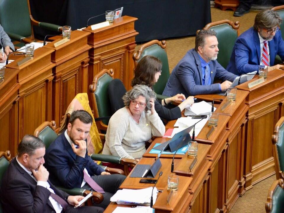 Des élus participent à une séance du conseil municipal de Montréal.