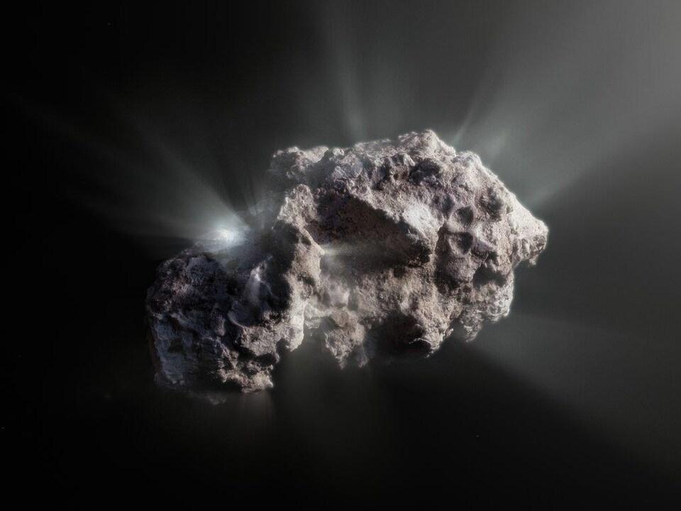 La comète 2I/Borisov ressemble à une roche poreuse.