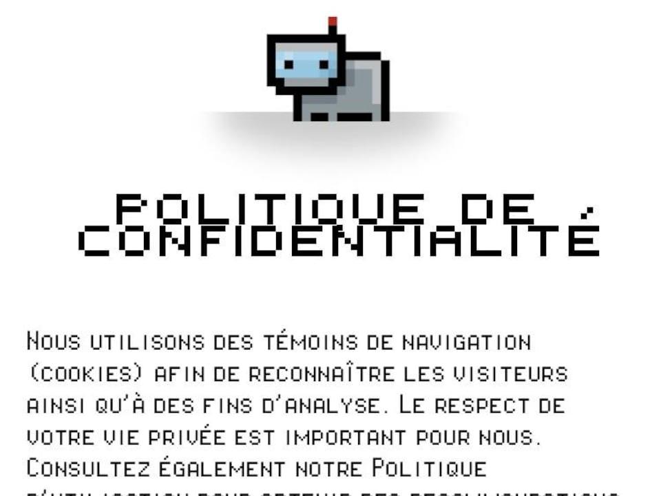 La politique de confidentialité de Datagotchi.