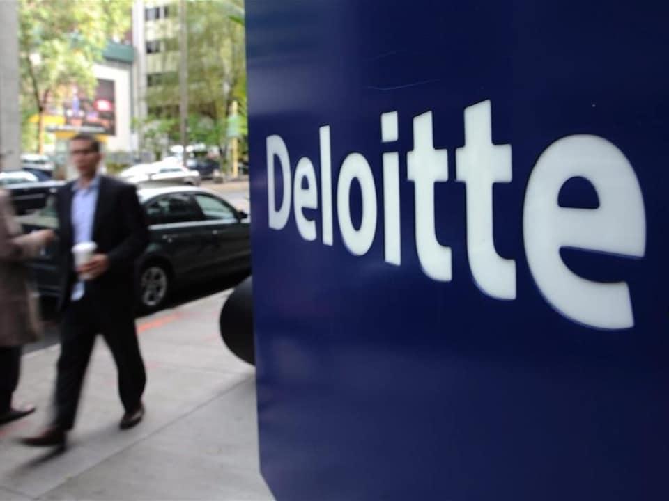 Le logo de Deloitte.