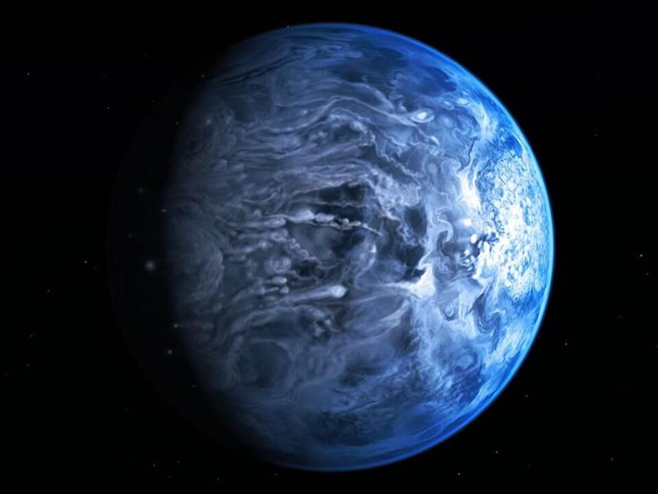 Représentation artistique de l'exoplanète HD 189733b.