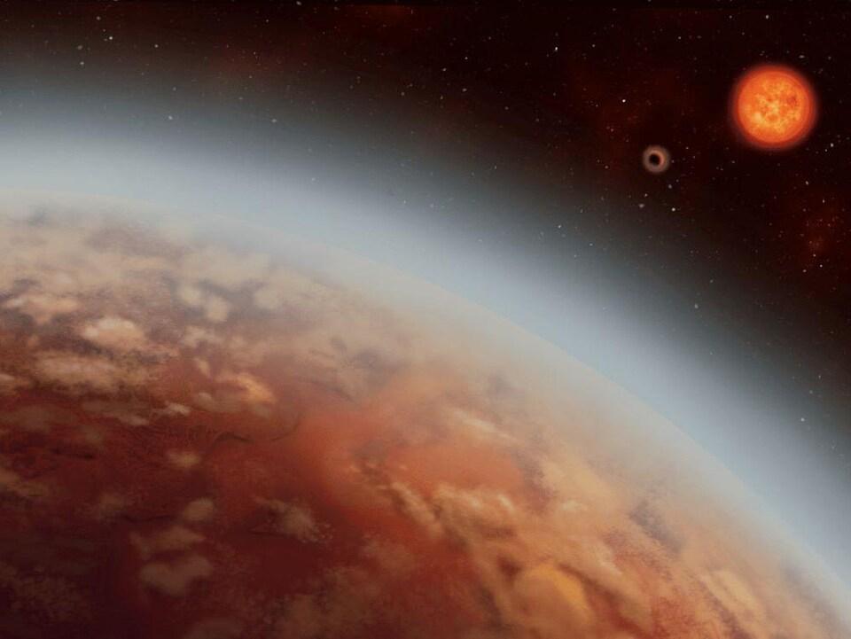 Représentation artistique de l'exoplanète K2-18b.