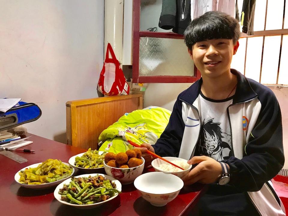 Gao Yeqing, candidat au Gaokao. Mai 2018