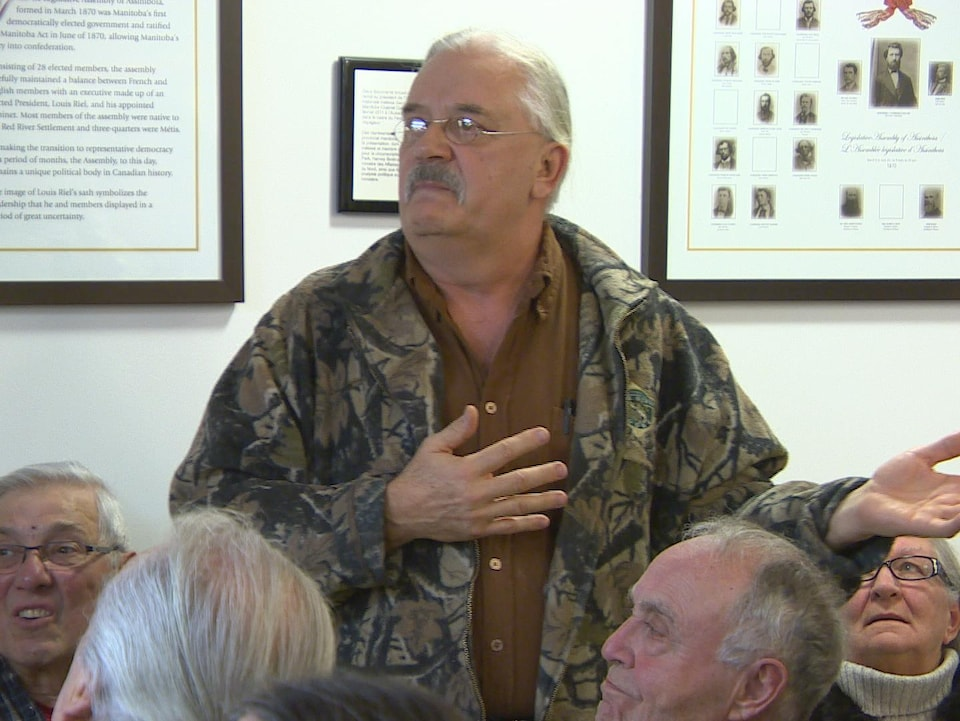 Georges Beaudry, membre de l'Union nationale métisse Saint-Joseph du Manitoba