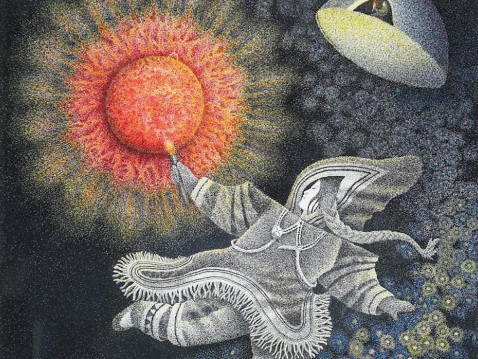 Un dessin qui représente une Autochtone.