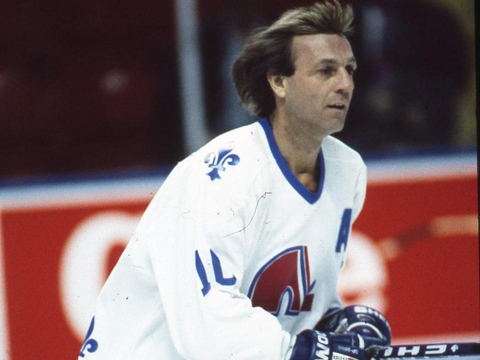 Guy Lafleur patinant pour les Nordiques en 1991.