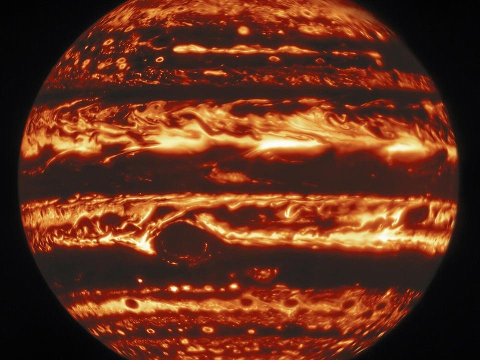 Jupiter in infrared light.