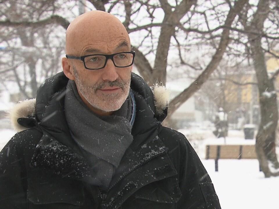 Le maire de Rimouski Marc Parent en hiver.