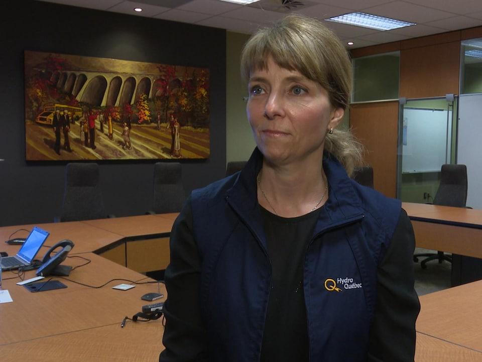 La conseillère en relation avec le milieu pour Hydro-Québec, Martine Lapierre