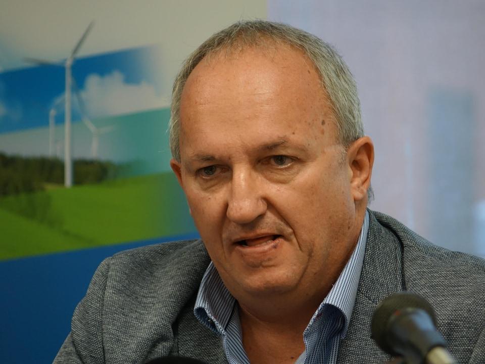 Le préfet de la MRC de Rivière-du-Loup, Michel Lagacé