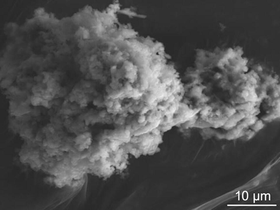 Une micrométéorite extraite des neiges antarctiques.