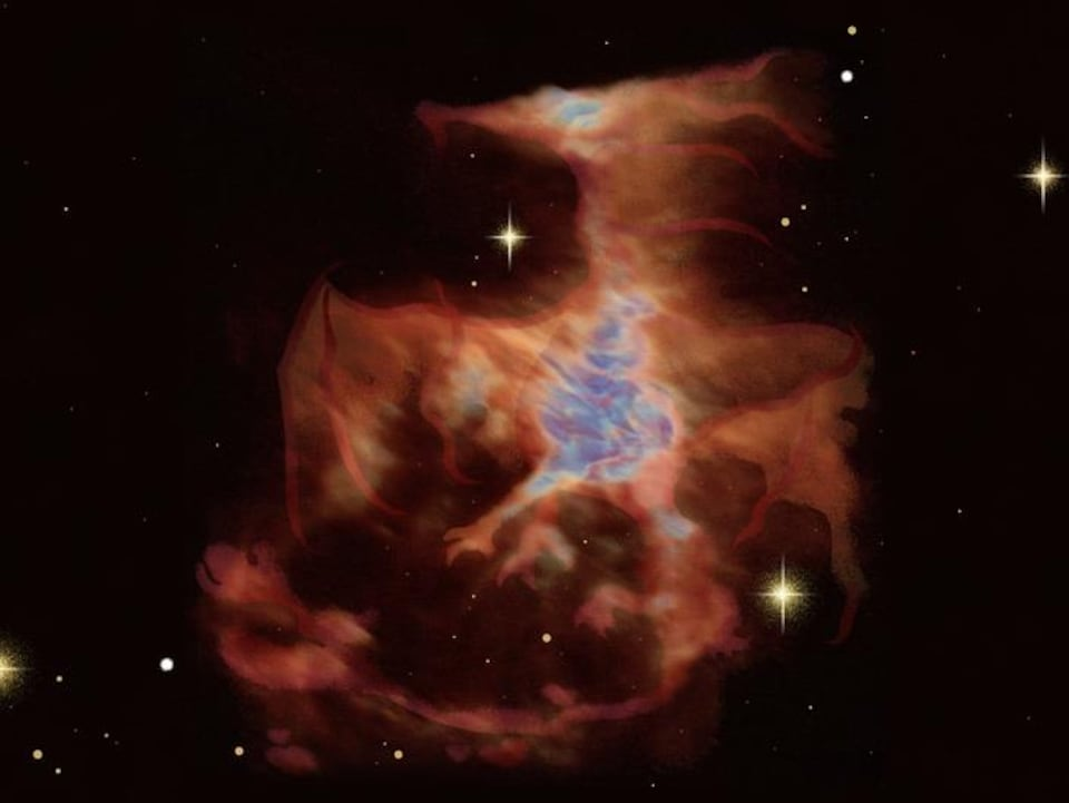 Le dragon de la nébuleuse d'Orion.