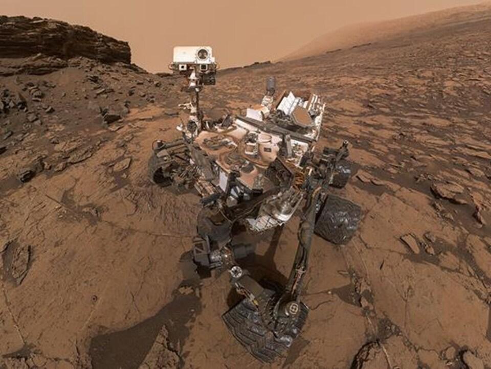 Le robot Curiosity.