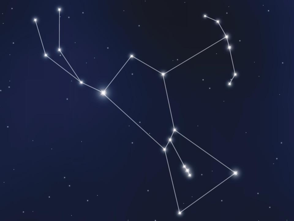 Vue d'ensemble de la constellation.