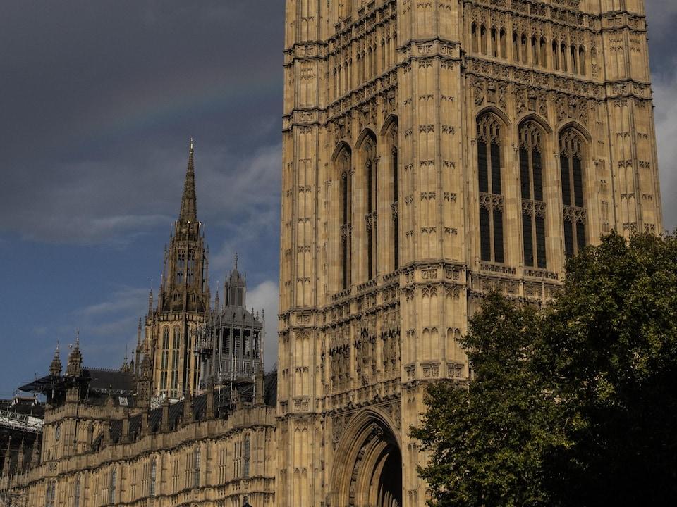 Le bâtiment du parlement britannique à Londres, en Angleterre.