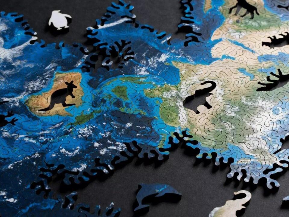 Les pièces d'un casse-tête de la Terre.