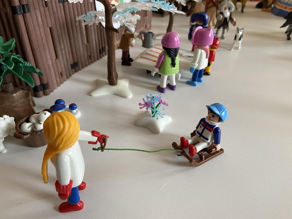 Une image du diorama des voyageurs par Anne-Claire Benoit Joffroy.