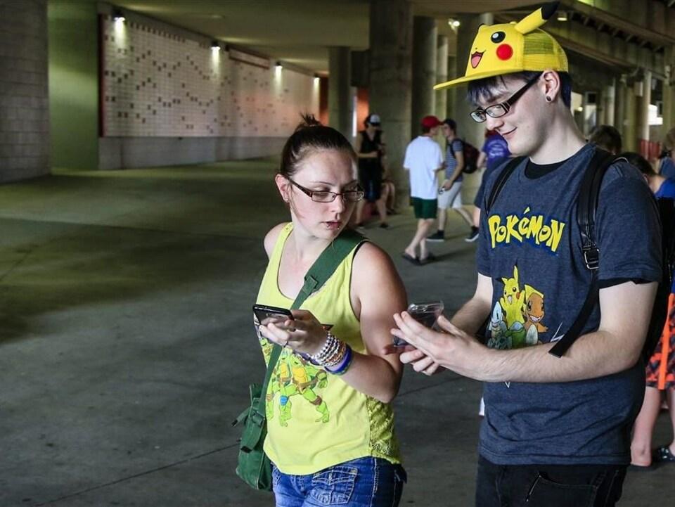 Des utilisateurs de Pokémon Go au Nebraska, États-Unis
