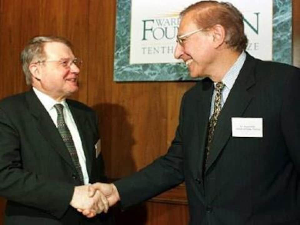 Robert Gallo et Luc Montagnier.