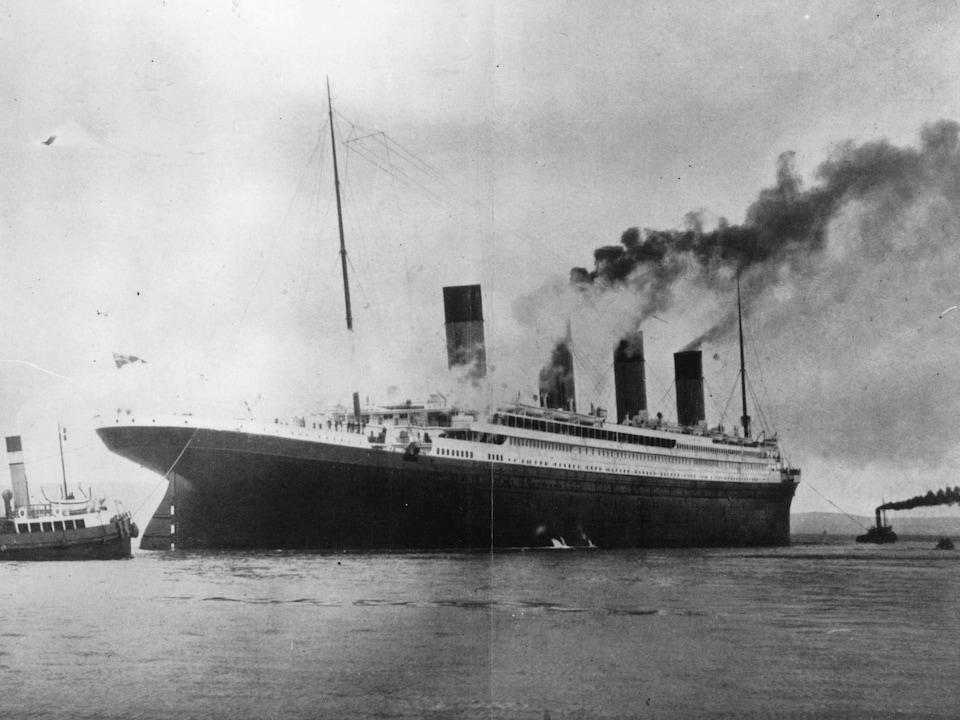 Une photo du Titanic à son inauguration.