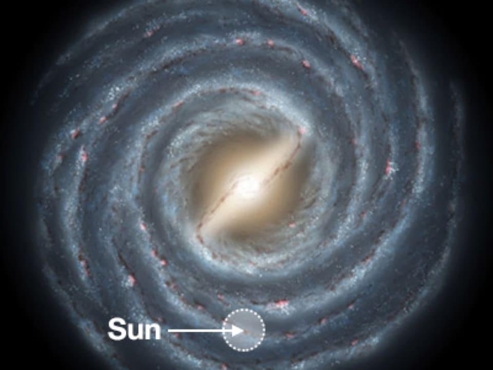 Illustration de la zone de la Voie lactée dans laquelle s'est concentrée la recherche d'exoplanètes.