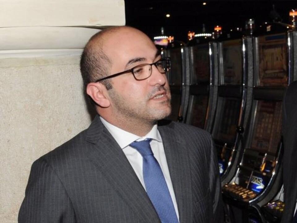 Yorgen Fenech du groupe Tumas lors de l'ouverture du casino Oracle à Malte.