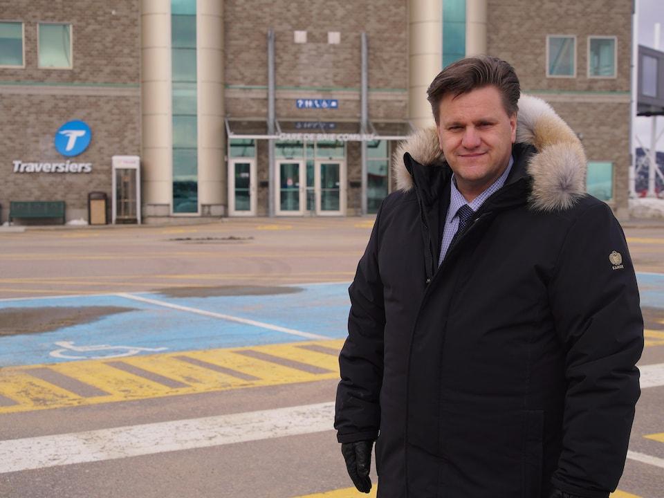 Le maire de Baie-Comeau, Yves Montigny