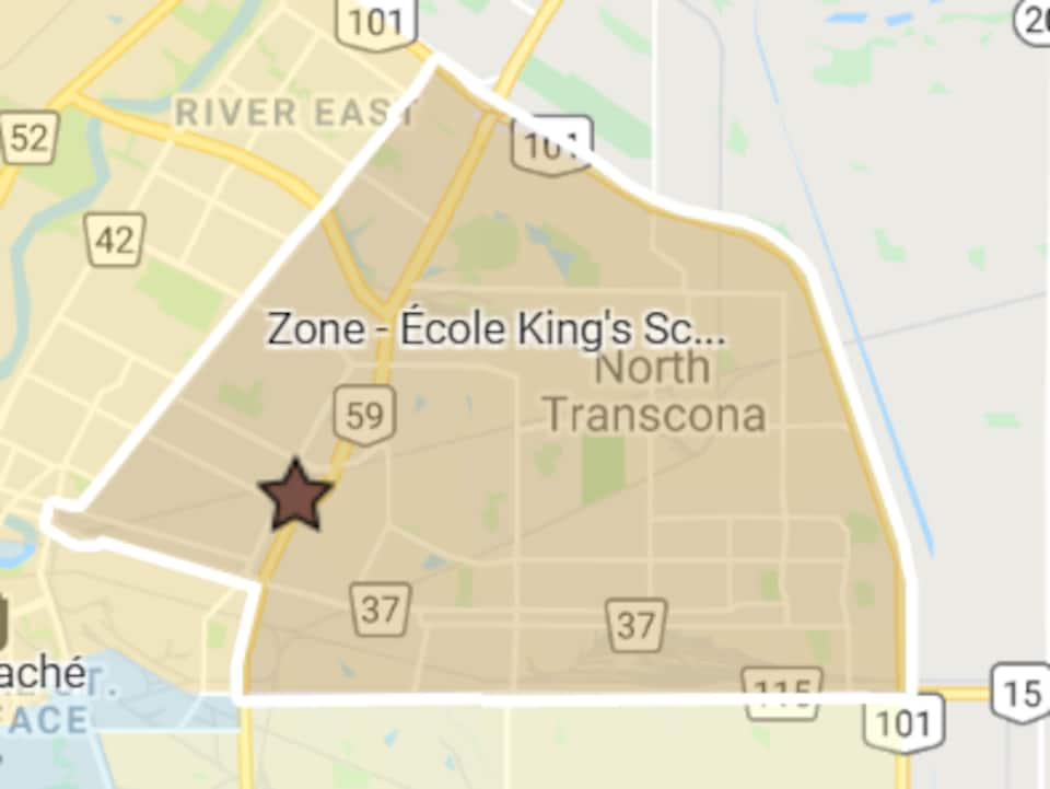 Le quadrant nord-est de Winnipeg.