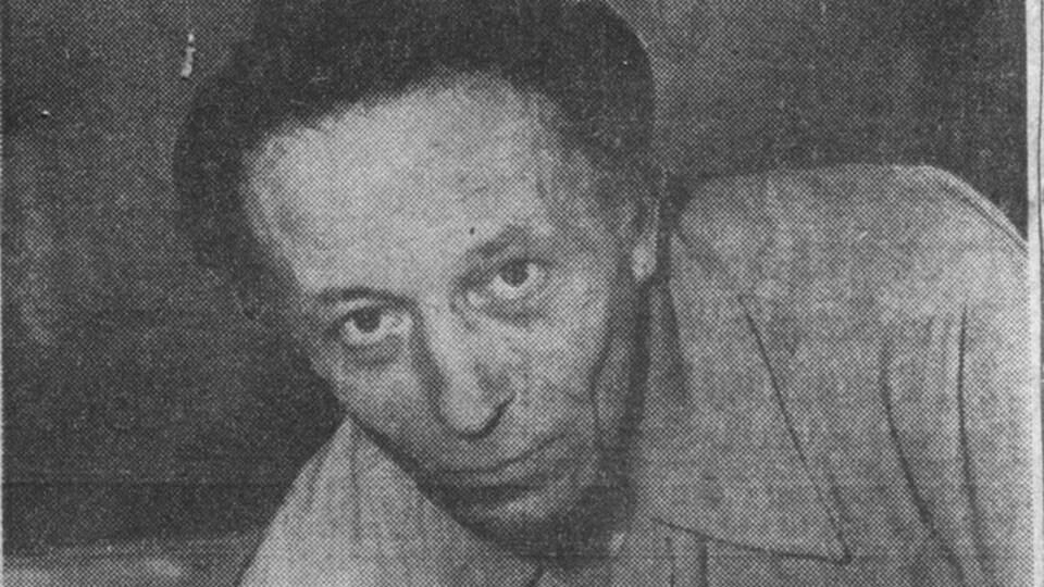 Une photo en noir et blanc d'Albert Gilles