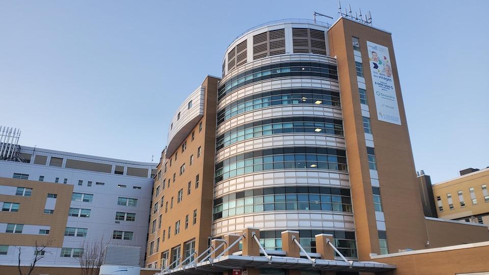 L'extérieur de l'hôpital de Rimouski.