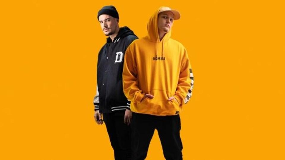 Photo du duo Koriass et FouKi qui lancent l'album surprise Génies en Herbe