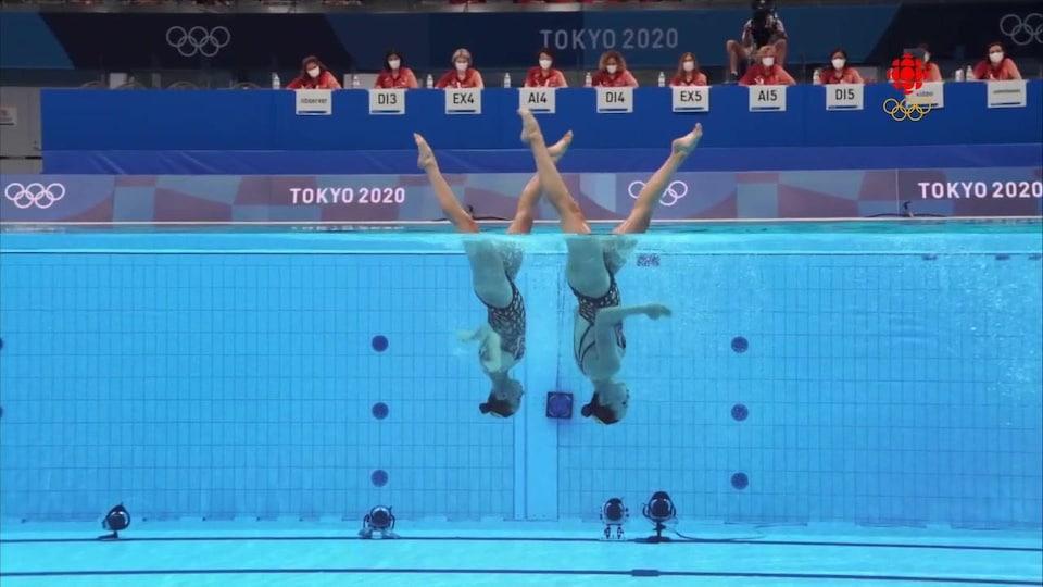Claudia Holzner et Jacqueline Simoneau performent aux Jeux olympiques de Tokyo.