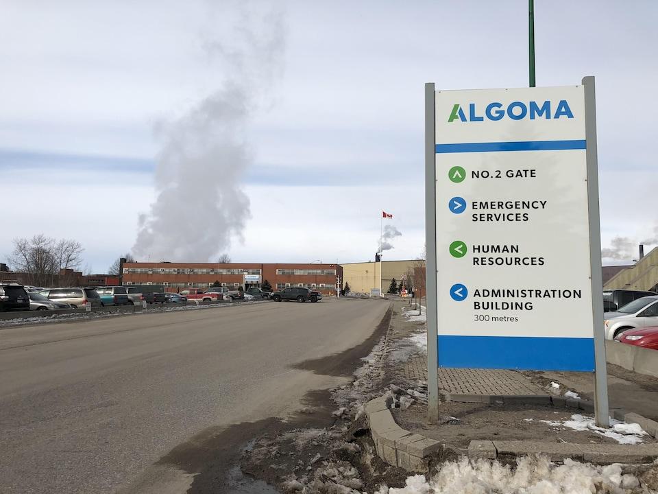 Les installations de l'aciérie Algoma à Sault-Sainte-Marie.