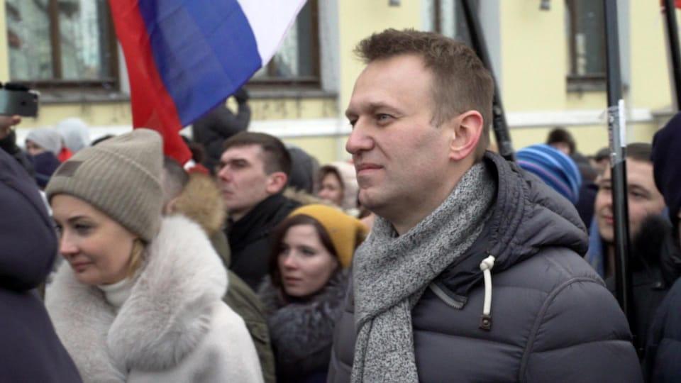 Alexei Navalny parmi les manifestants