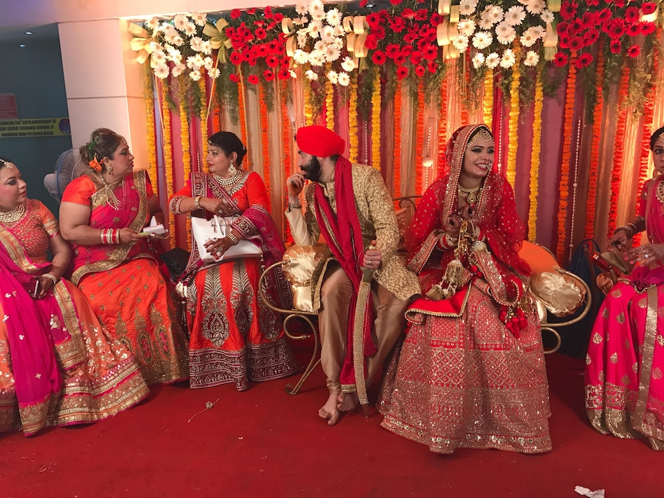 Un mariage à Mumbai.