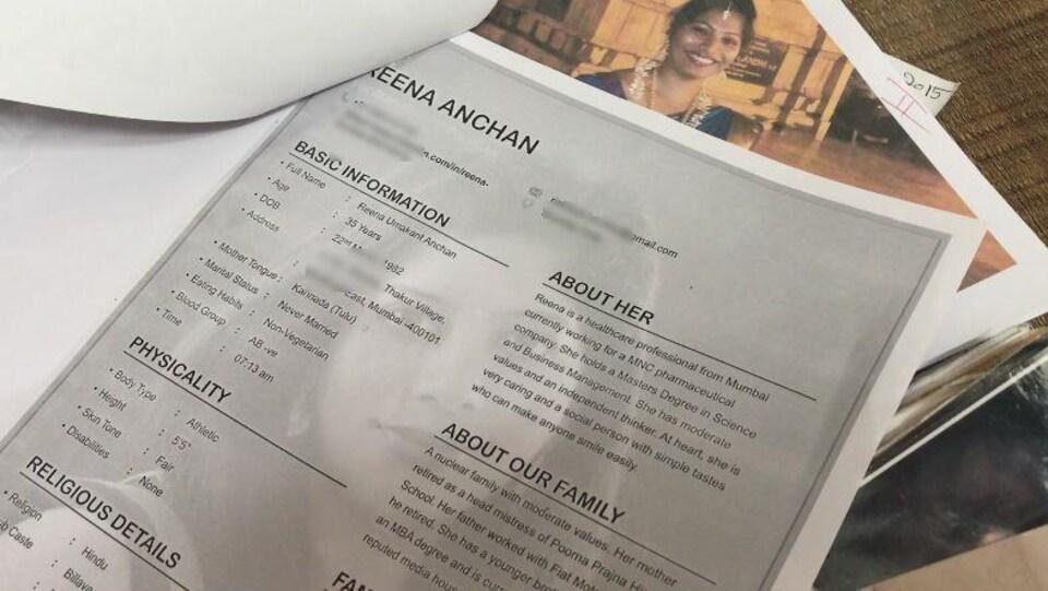 Le profil d'une femme de 35 ans pour qui la famille recherche un époux.