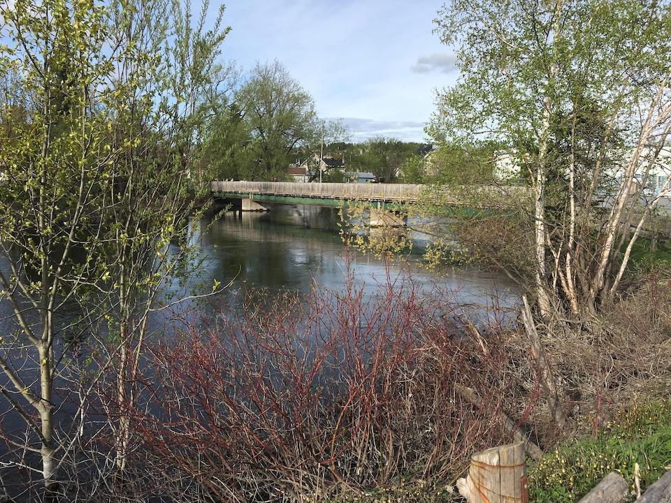 La rivière Matapédia au centre-ville d'Amqui