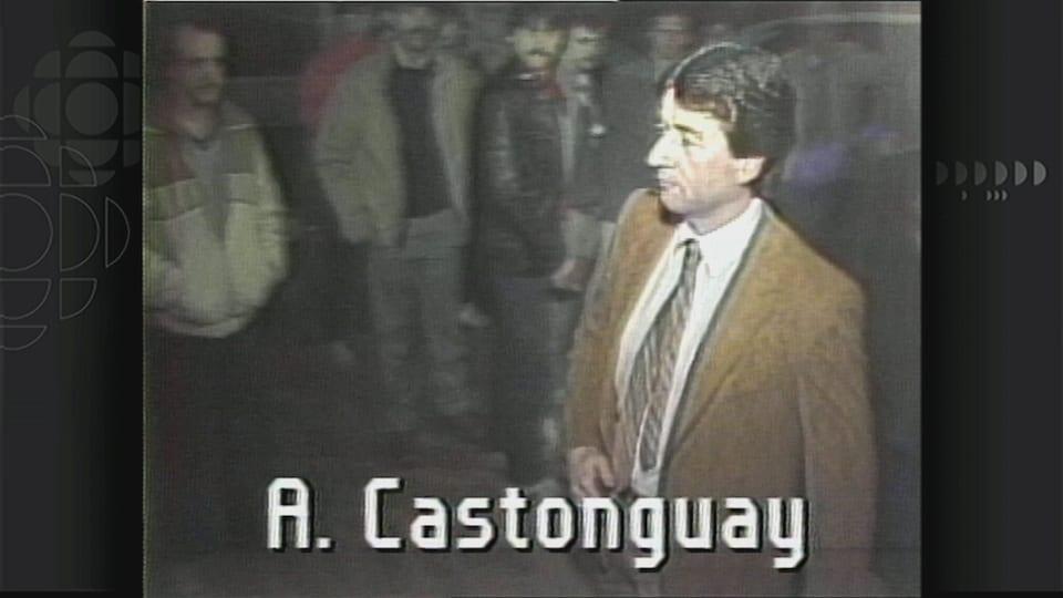 Image d'archives d'André Castonguay lors de son arrivée à son procès
