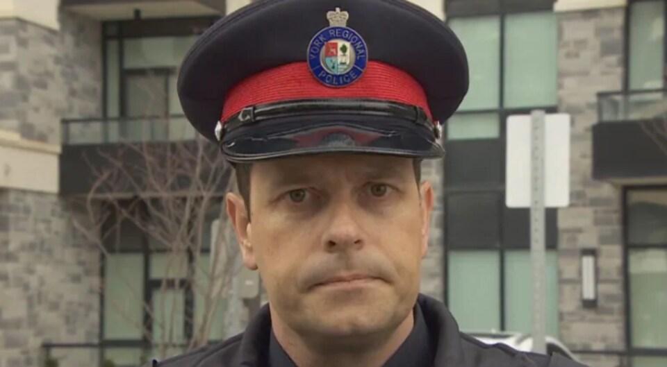 L'agent Andy Pattenden de la police régionale de York.