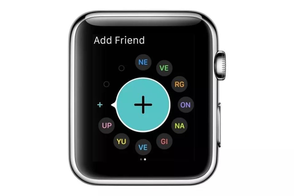 Une Apple Watch qui dissimule le message « never gonna give you up ».