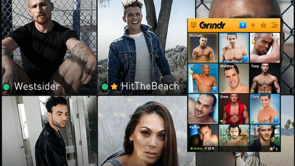 Captures d'écran avec des photos de profils
