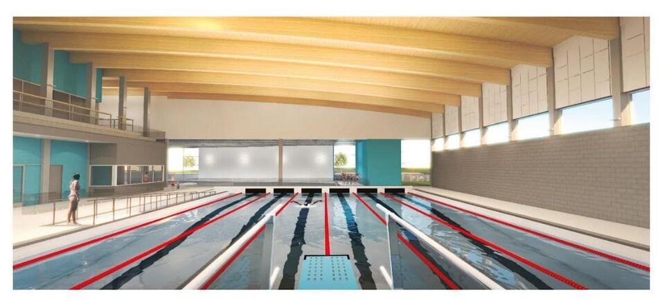 Un aperçu de la piscine qui sera construite.