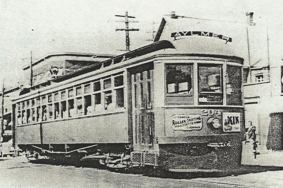 Photo d'archives montrant un wagon de tramway.
