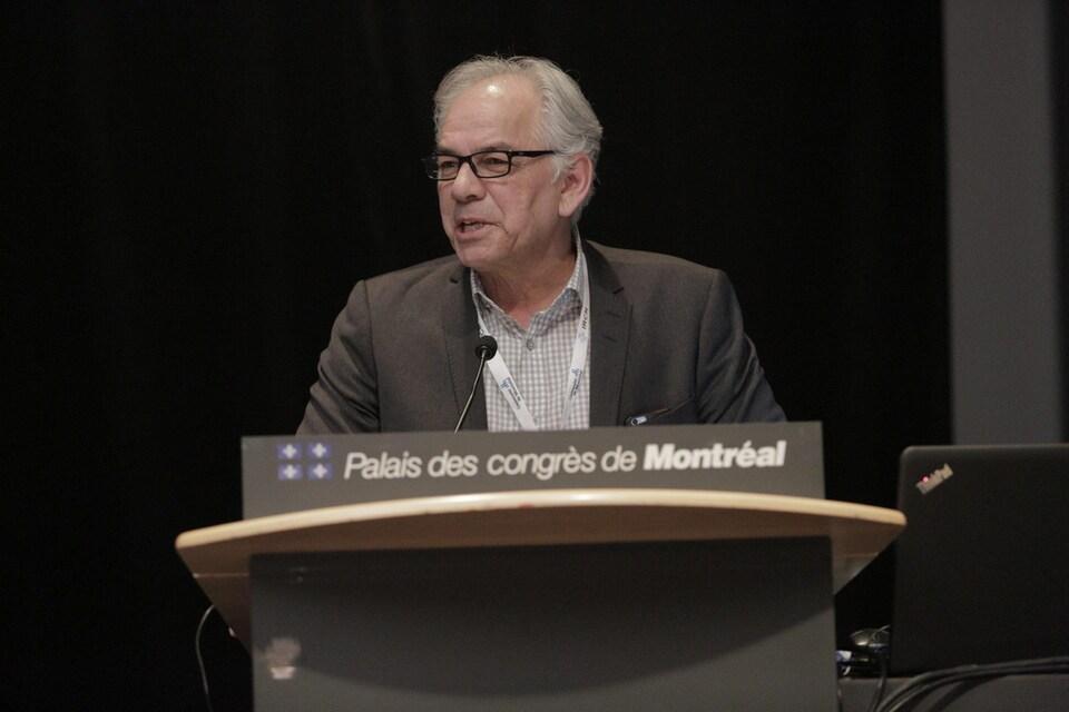 Ghislain Picard à la table ronde Indigenous Poeple's Health Services, dans le cadre de la rencontre régionale du WHS à Montréal
