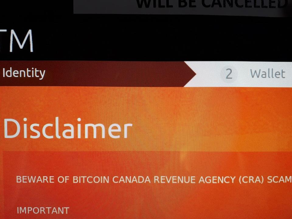 Une photo d'un écran qui montre un avertissement