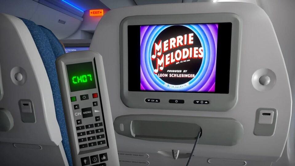 Le divertissement de bord dans le jeu Airplane Mode.